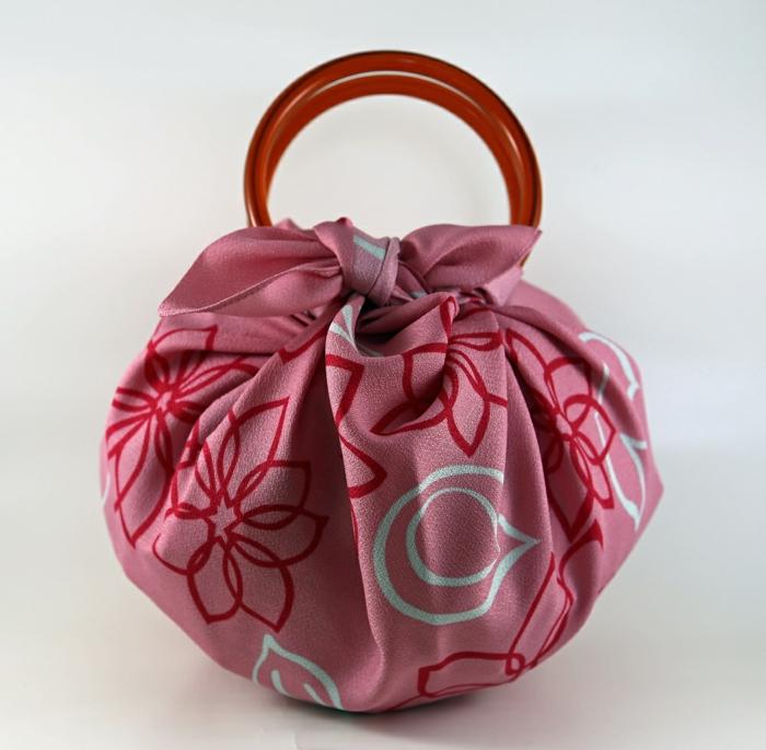 furoshiki sac avec anneaux