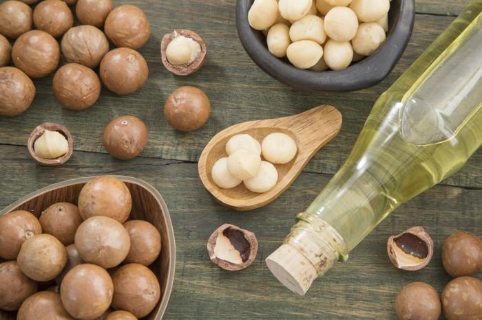 huile macadamia et huile essentielle niaouli