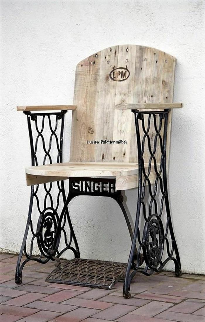 idée chaise machine à coudre