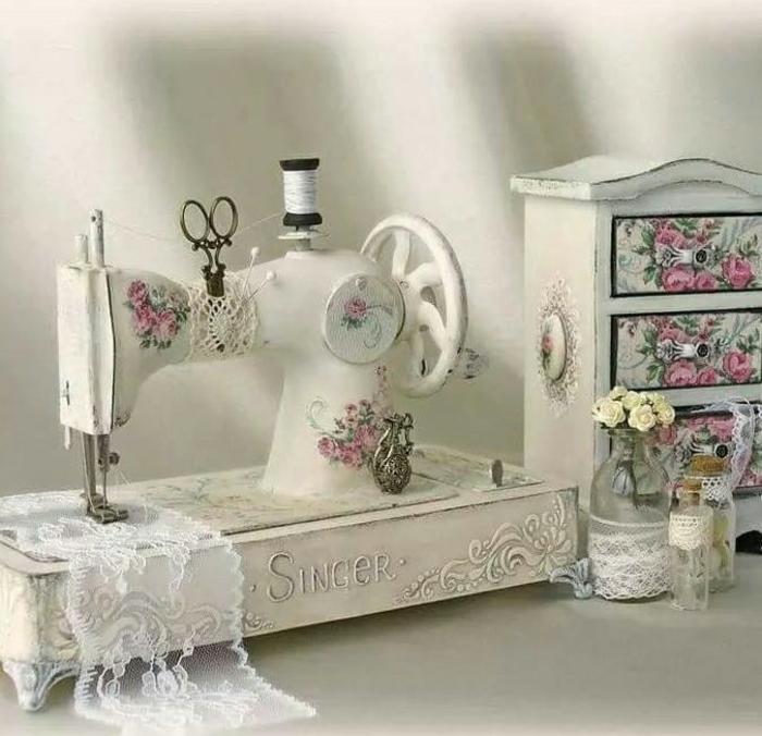 idée déco originale vintage machine à coudre