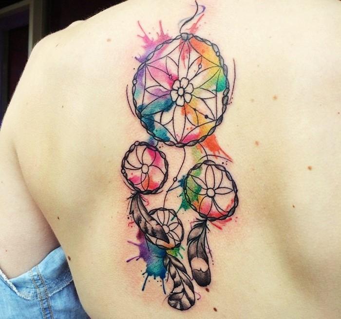 idée de tatouage attrape-rêve