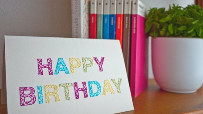 idée facile pour faire une carte d' anniversaire