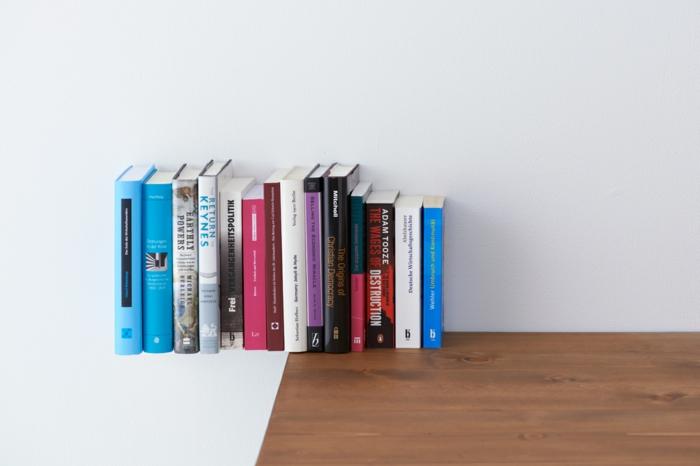 idée meuble bibliothèque étagère invisible