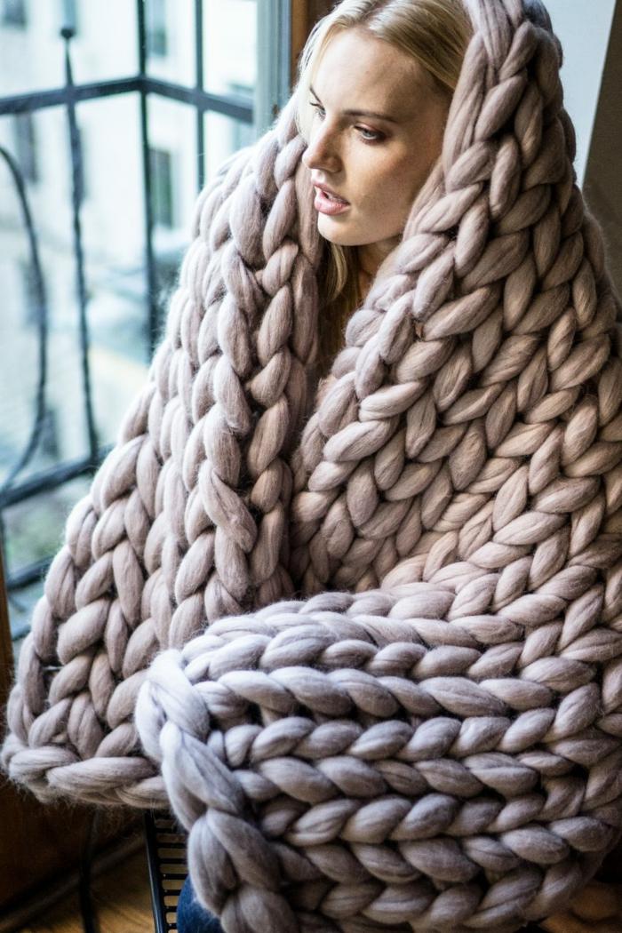 idée pour l'hiver arm knitting