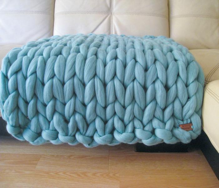 idée pour votre canapé arm knitting