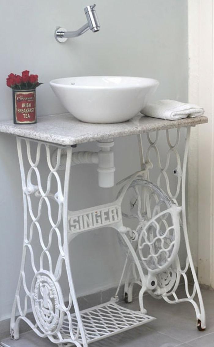 idée salles de bains machine à coudre