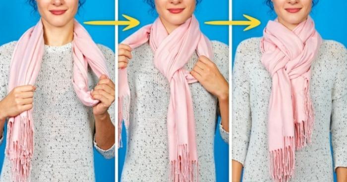 idée simple écharpe femme comment porter