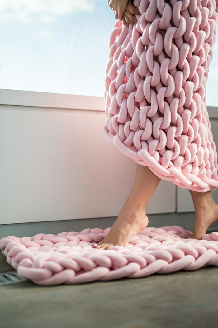 idée tapis arm knitting