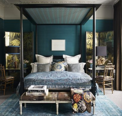 chambre bleu canard