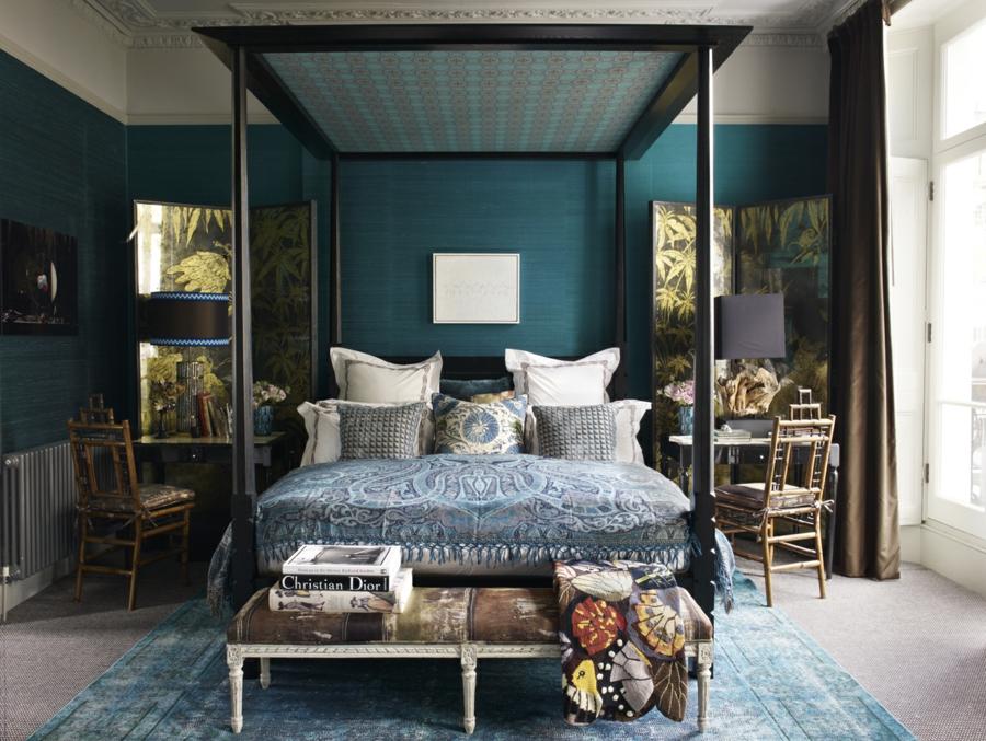 chambre bleu canard 30 id es d 39 am nagement ne pas manquer. Black Bedroom Furniture Sets. Home Design Ideas
