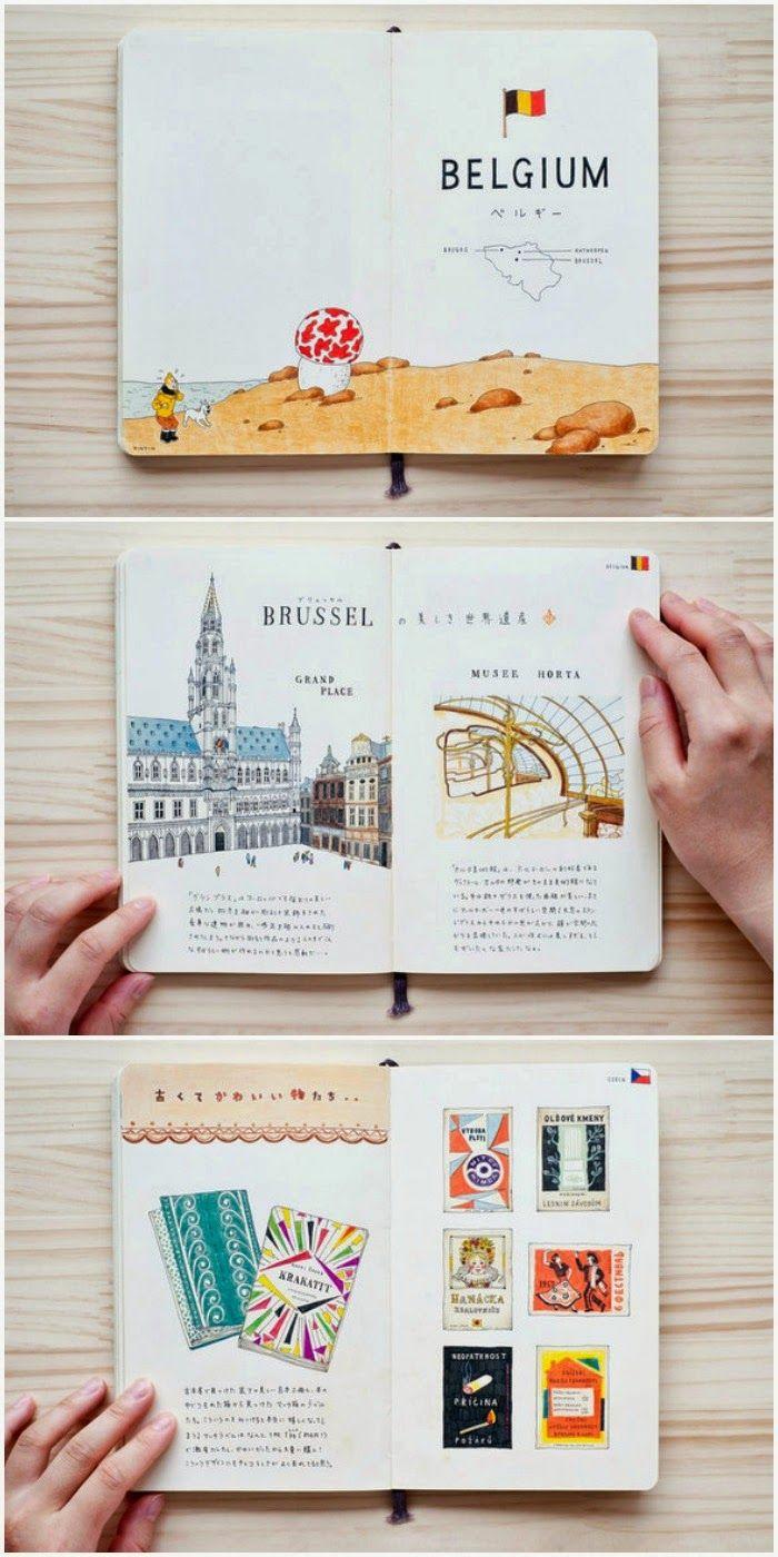 inspiration pour votre carnet de voyage