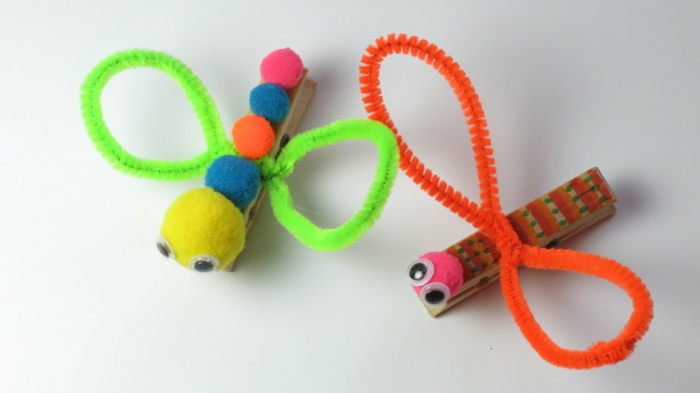 jouets d'enfant avec une pince à linge