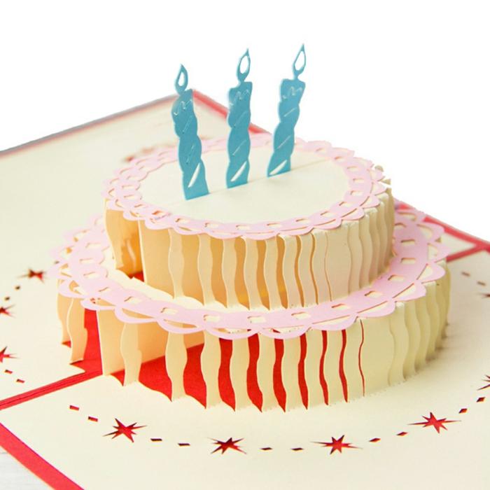 kirigami idées Jolie carte d' anniversaire
