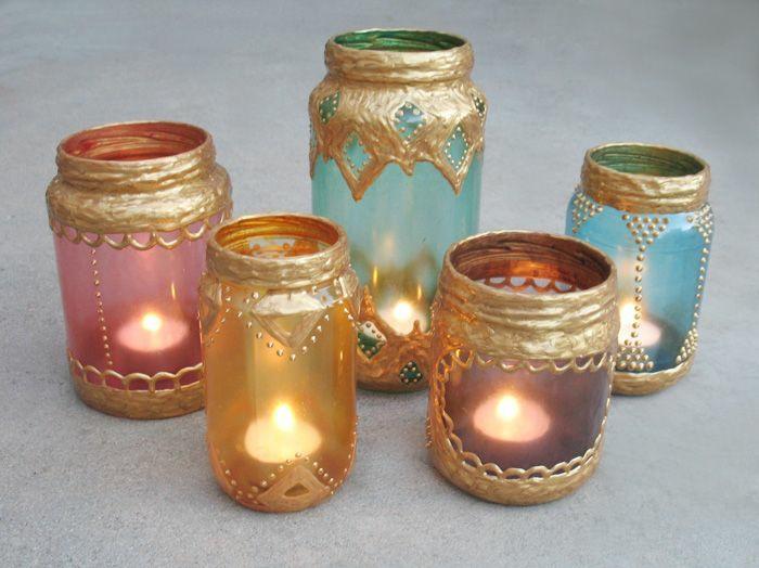 lanternes de bocaux en verre
