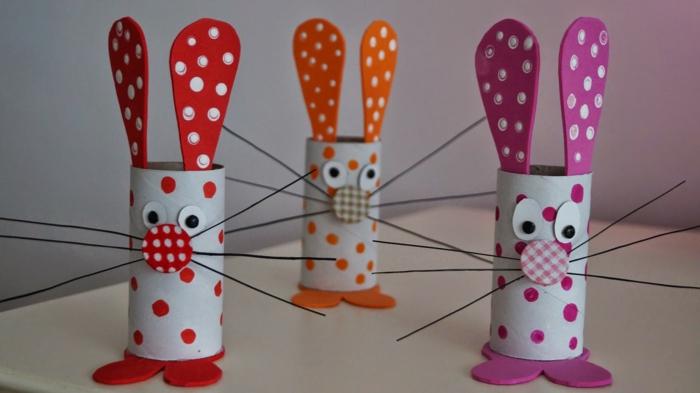 lapins déco de rouleaux de papier toilette