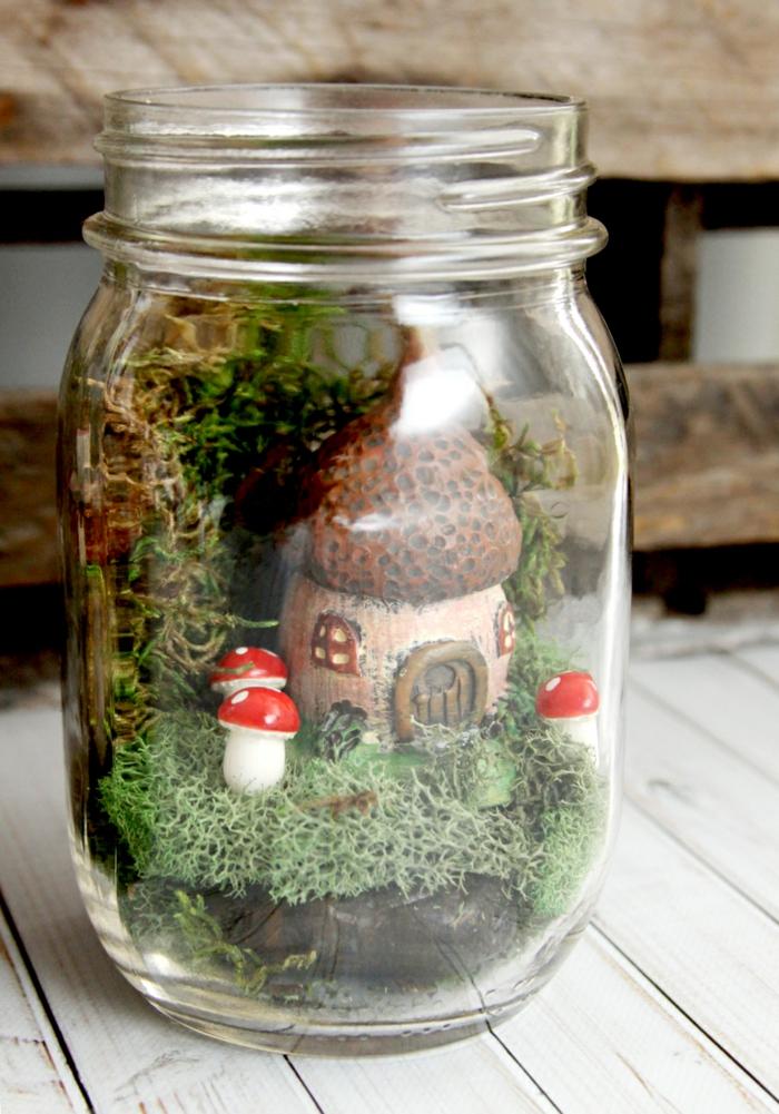 maison de fée bocal en verre