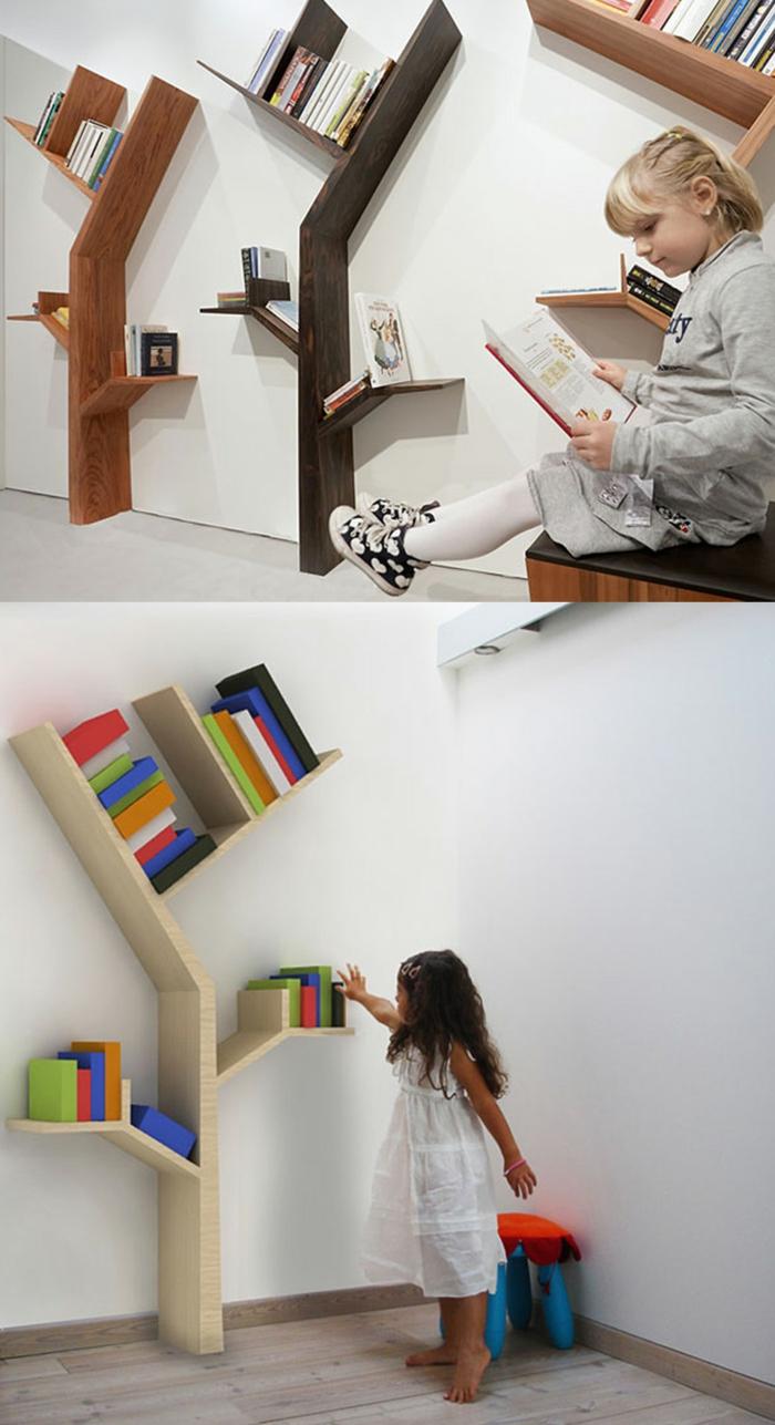 meuble bibliothèque arbre