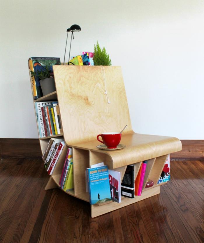 meuble bibliothèque maison déco
