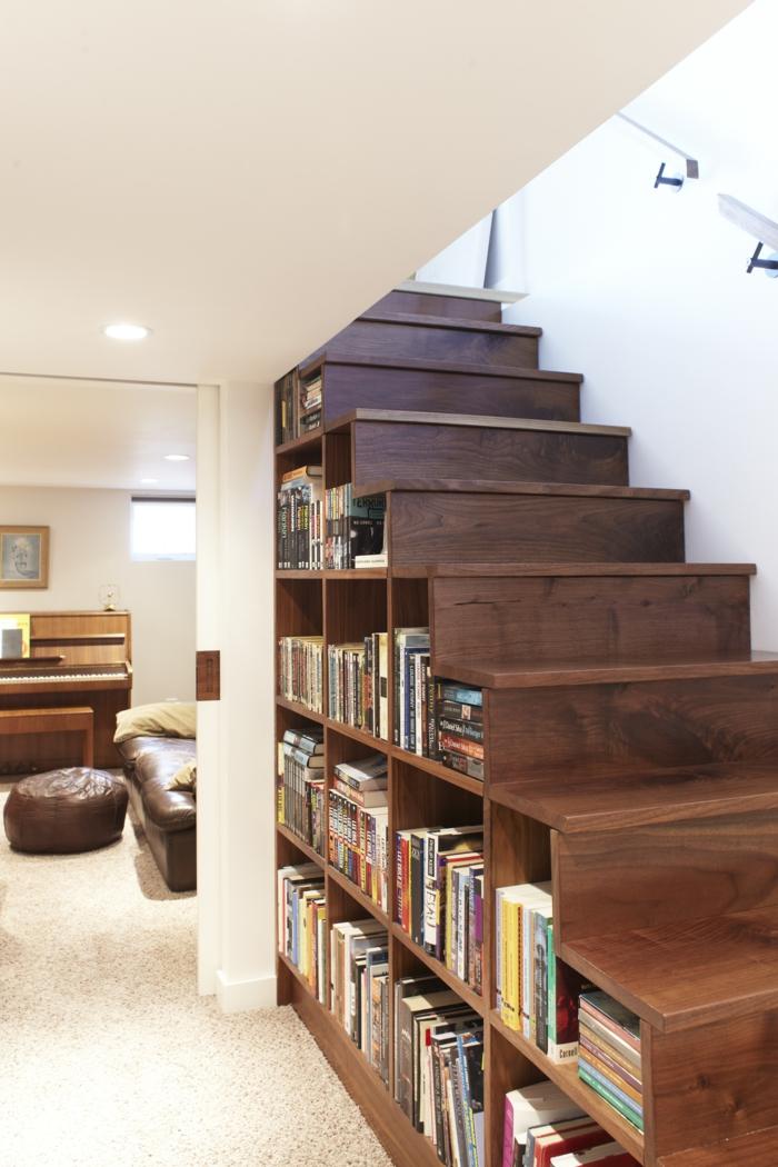 meuble bibliothèque originale idée pratique