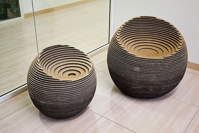 meubles en carton chaises fauteuils
