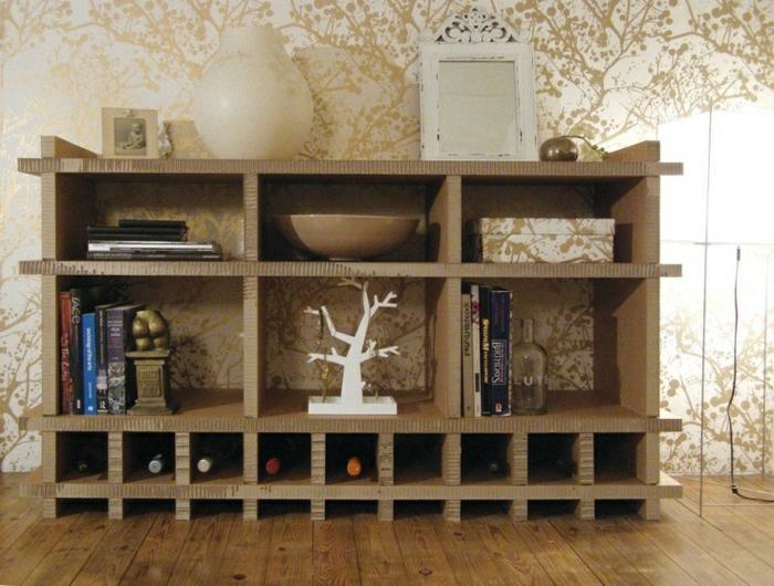 meubles en carton créer déco