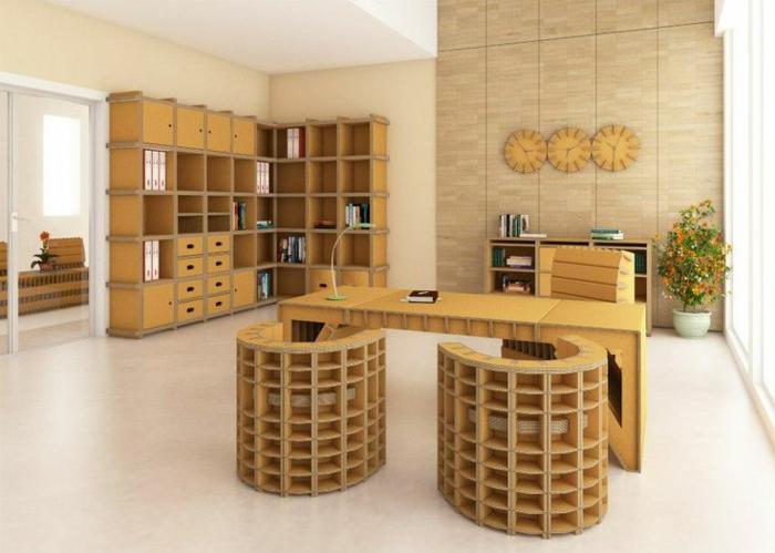 mobilier en carton meubles bureau