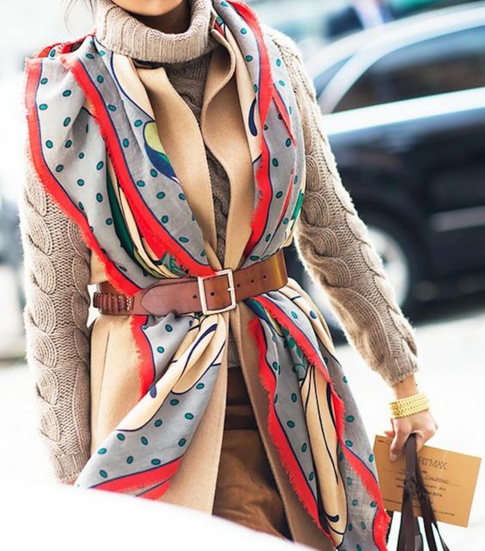 mode femme écharpe femme