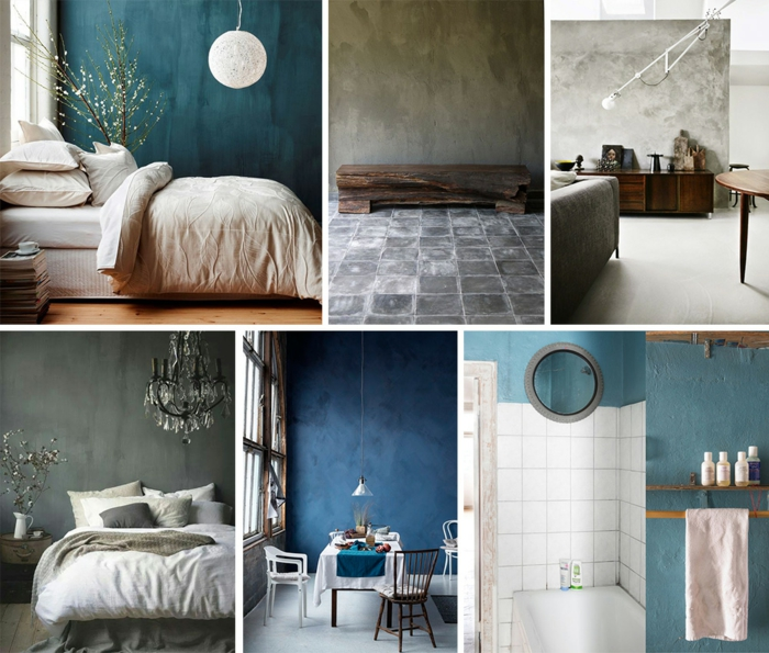 murs peints avec peinture à la chaux