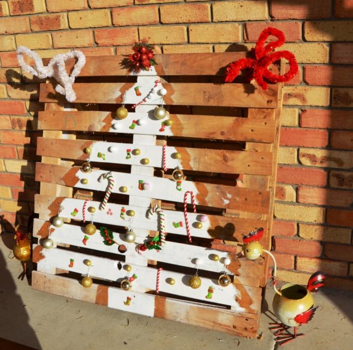 Decoration Sapin De Noel Exterieur Recyclage