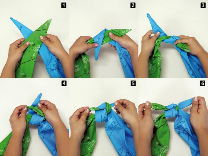 comment réaliser les noeuds pour furoshiki