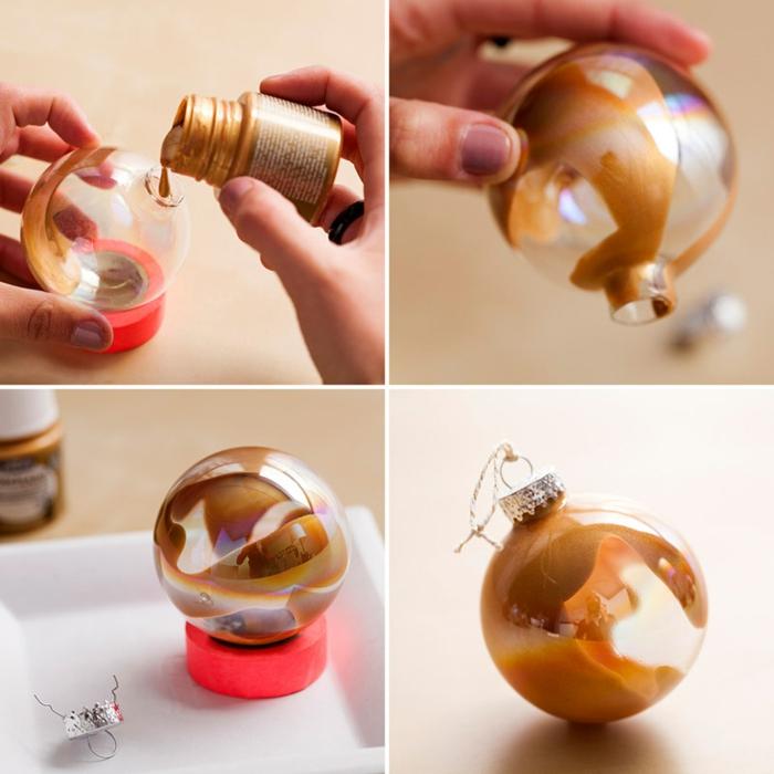 peinture pour décorer la boule de noël