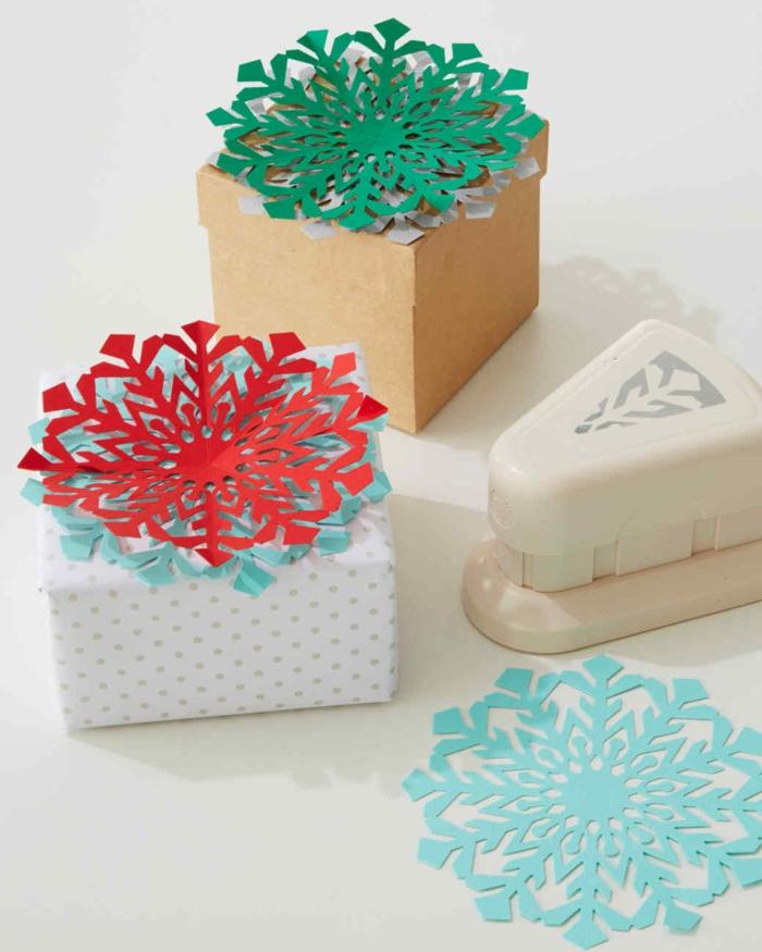 perforatrice pour emballer un cadeau