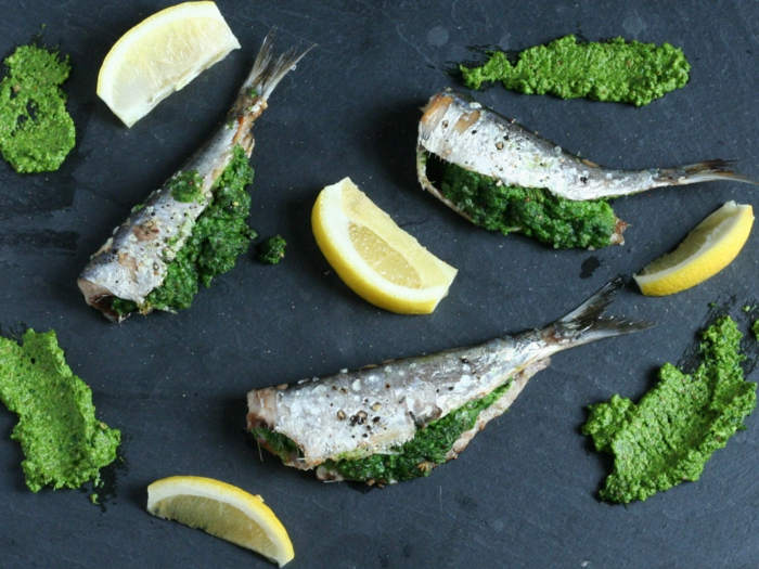 pesto et sardines aliments riches en vitamine D