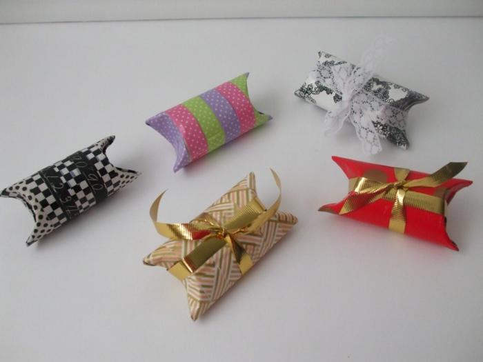 petits cadeaux de carton tubes de papier toilette