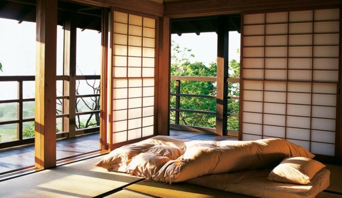 pièce de repos maison japonaise