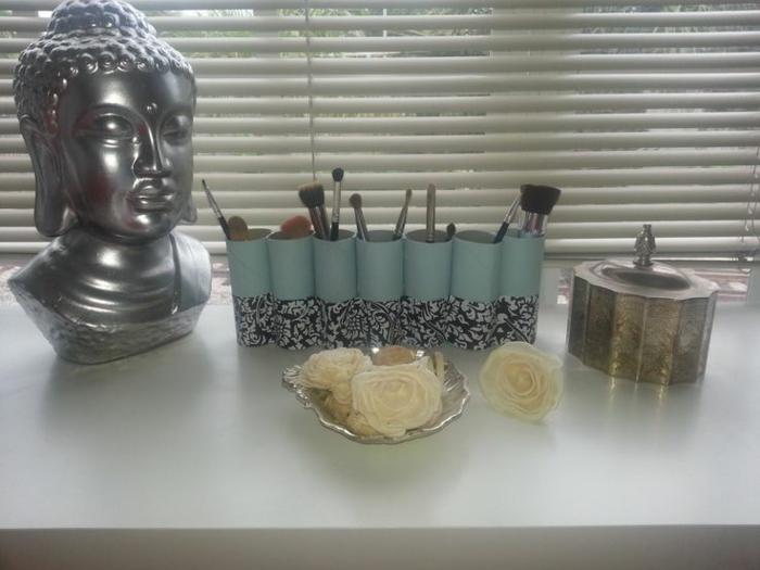 range maquillage rouleaux papier toilette