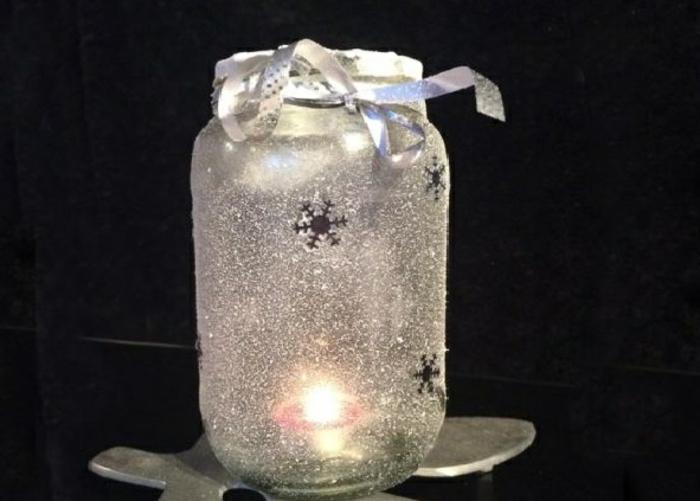 recyclage noël bocaux en verre