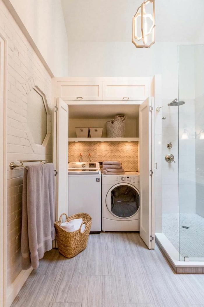 salle de bain et aménagement buanderie
