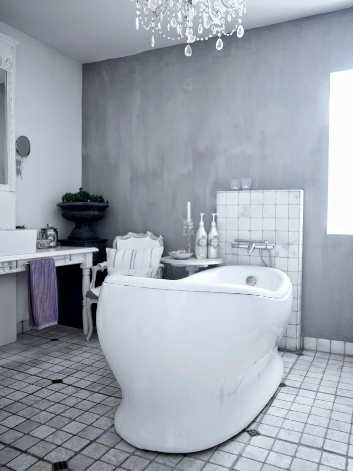 salle de bain peinture à la chaux