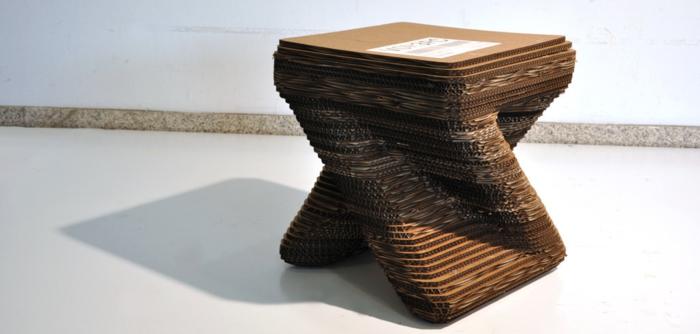 table de chevet meubles en carton