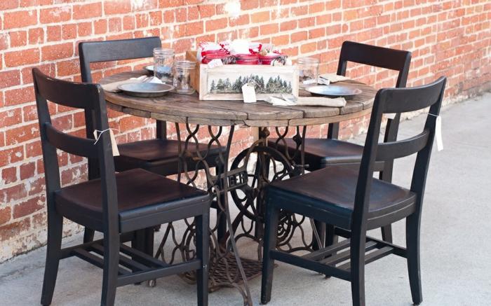 table jardin machine à coudre