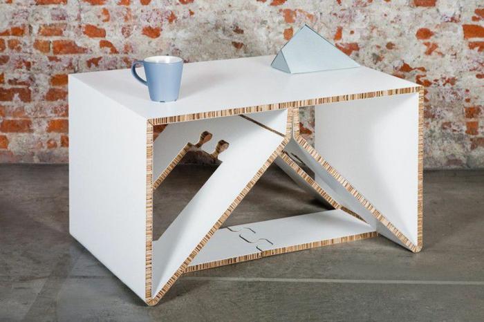 table meubles en carton