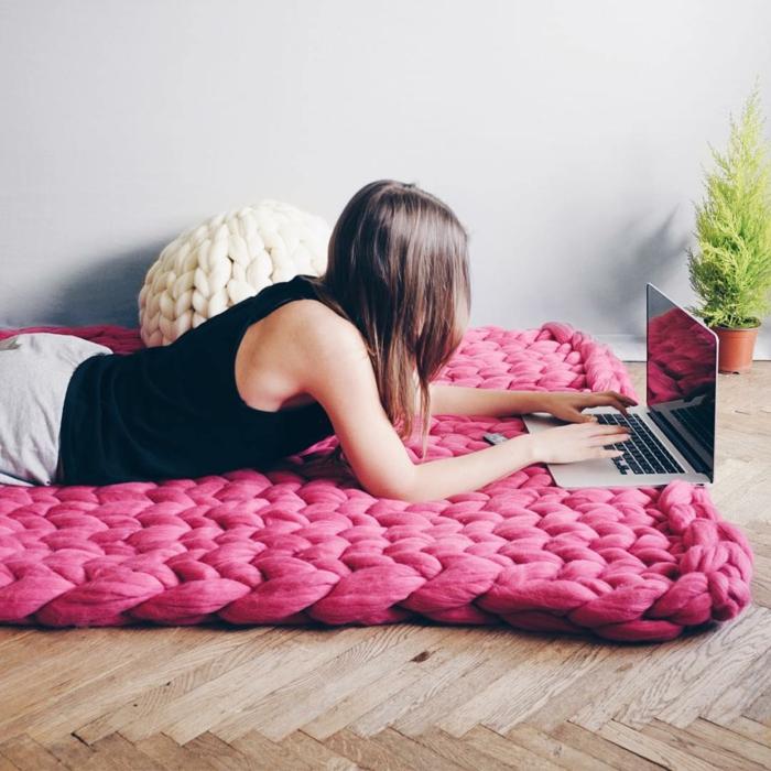 tapis arm knitting