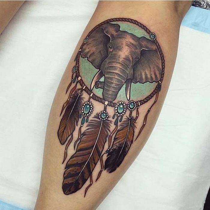 tatouage unique attrape-rêve
