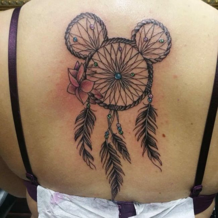 triple attrape-rêve tatouage