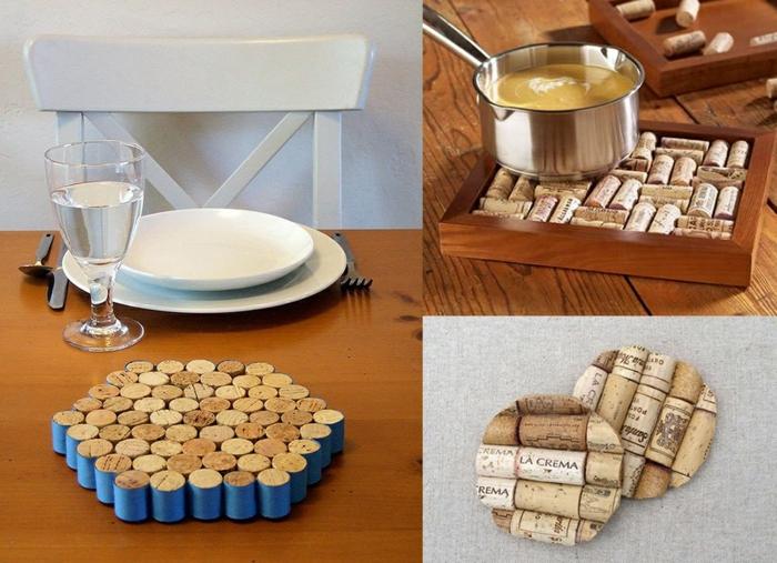 utiliser bouchons de liège cuisine