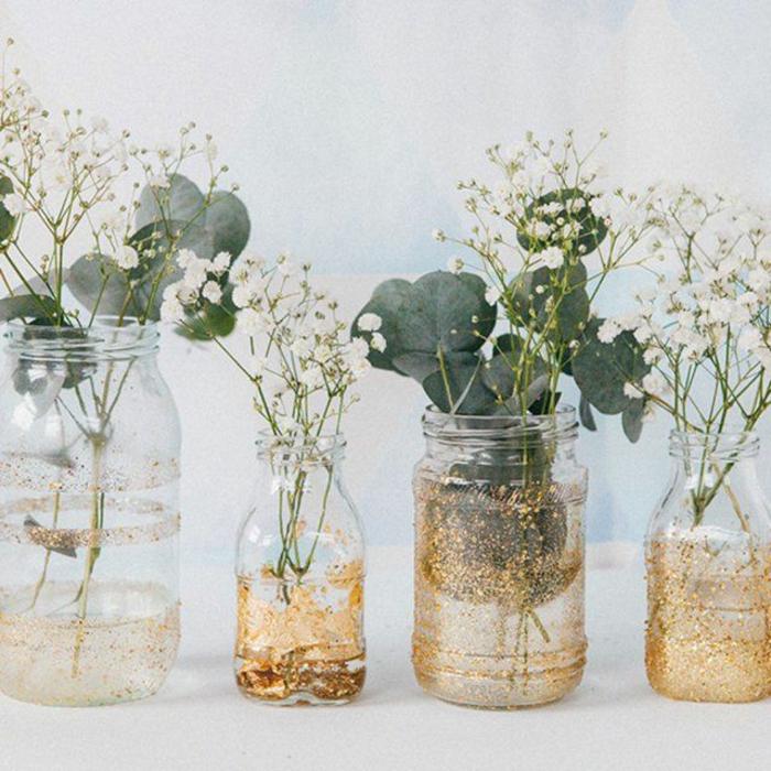 vases à paillettes déco bocaux verre