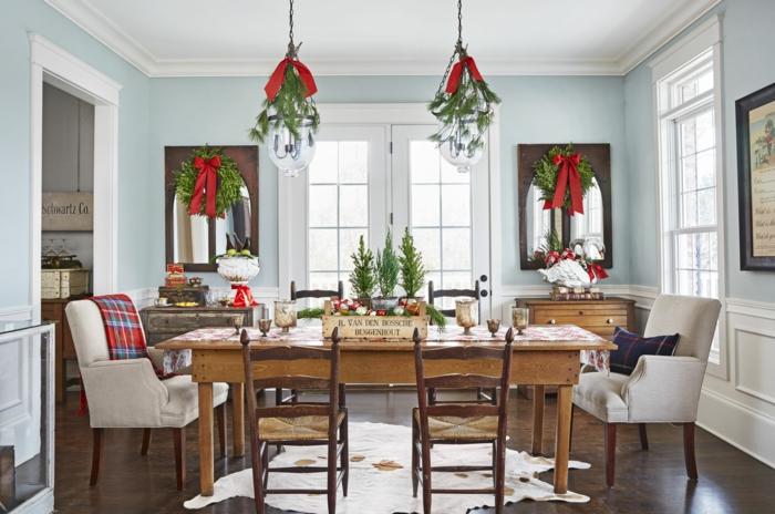 décoration de table de noël esprit festif
