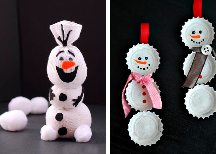 activité manuelle facile pour enfants bonhommes de neige