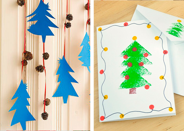 activité manuelle facile pour enfants déco noël dessin papier